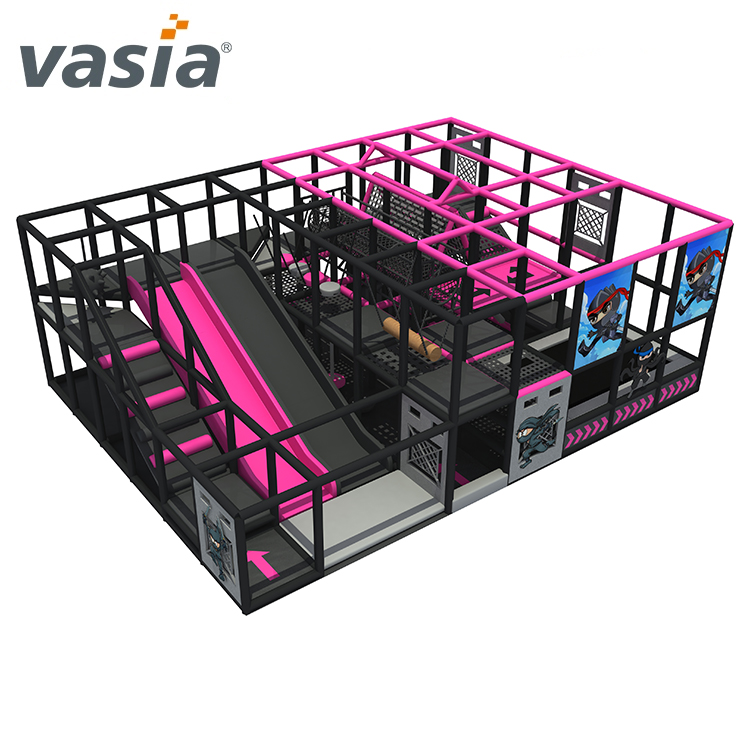 Ejercicio Ninja Course Soft Indoor Playground Shopping Mall para la escuela Ninja